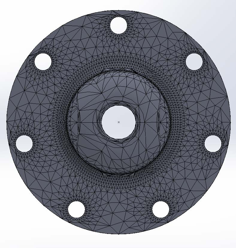 Mesh Part in SOLIDWORKS Simulation