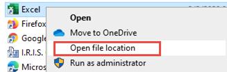 Microsoft Excel Open File Location
