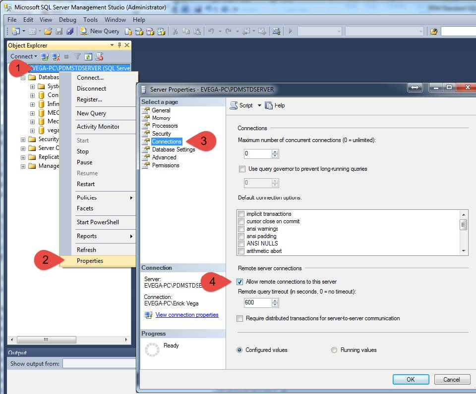 Microsoft SQL Server Management Studio Administrator