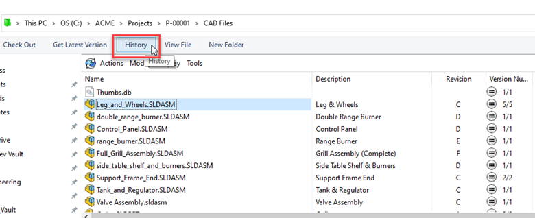 Modify Version History Comment in SOLIDWORKS PDM