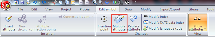 multiple attributes button solidworks