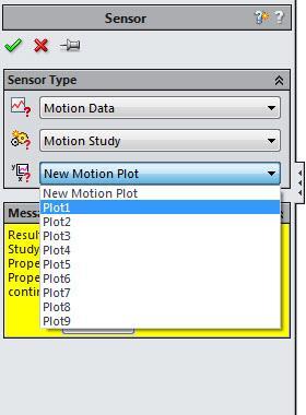 New Motion Plot SOLIDWORKS Design Study