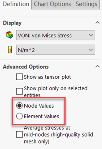 Nodal Stress VS Element Stress in SOLIDWORKS Simulation