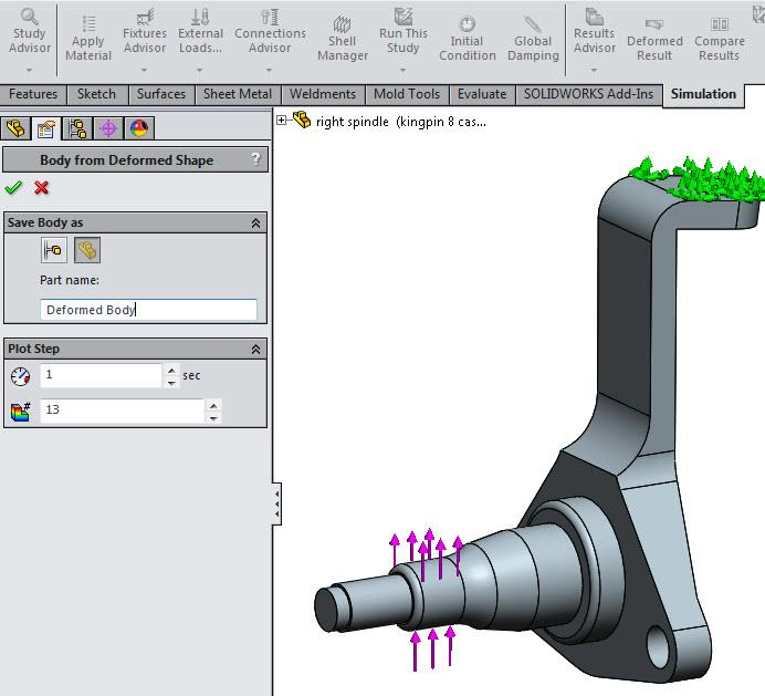 Nonlinear Static Analysis in SOLIDWORKS Simulation