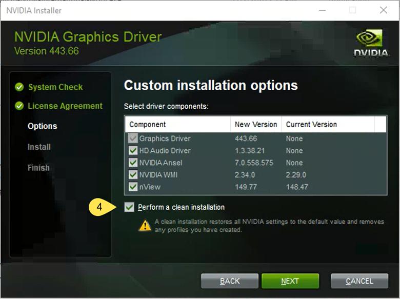 NVIDIA Custom Installation Options