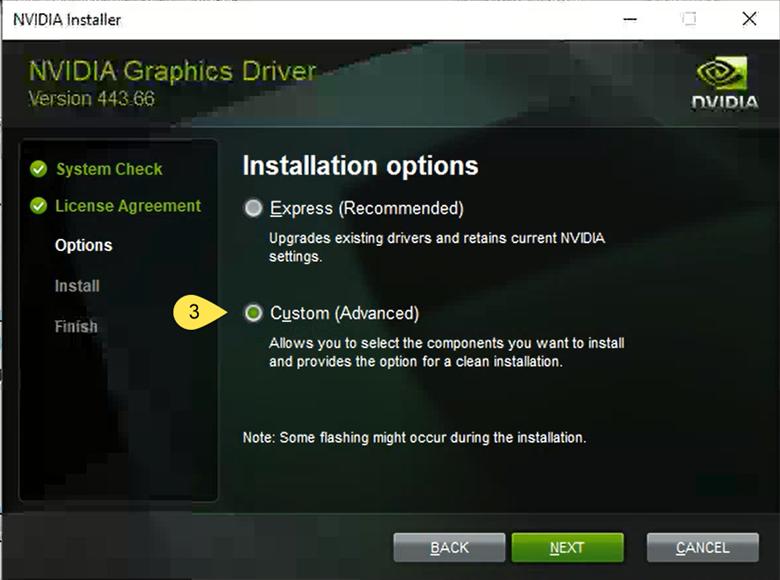NVIDIA Installation Options