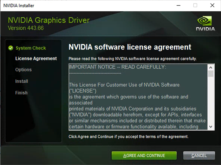 NVIDIA Software License Agreement