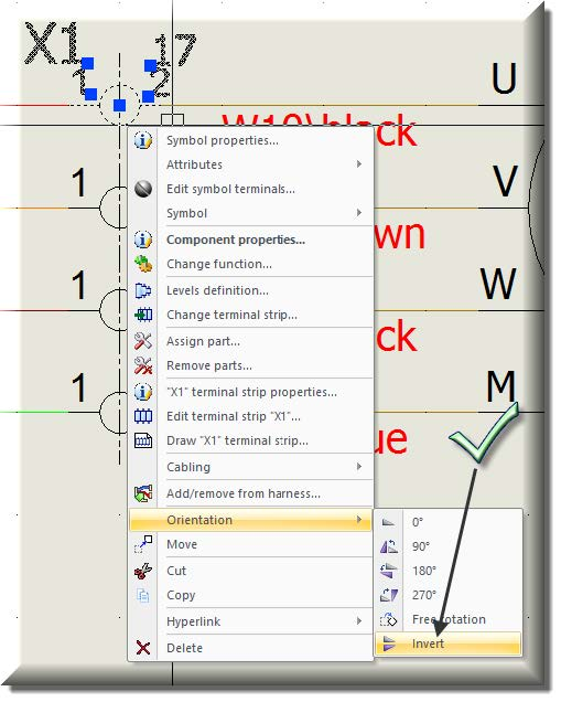 Orientation Command SOLIDWORKS Electrical