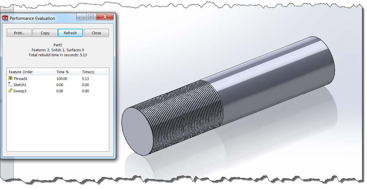 Performance Evaluation Simplified Configurations in SOLIDWORKS