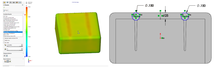 Plastics Analysis with no sink marks present and a CAD model