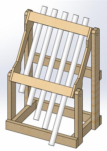 PVC Pipe Drum SOLIDWORKS CAD Design