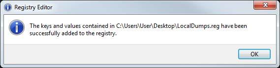 Registry Editor Success Creating New Key in the Registry