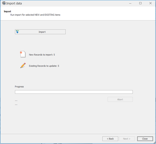 Run Import Data in SOLIDWORKS Manage