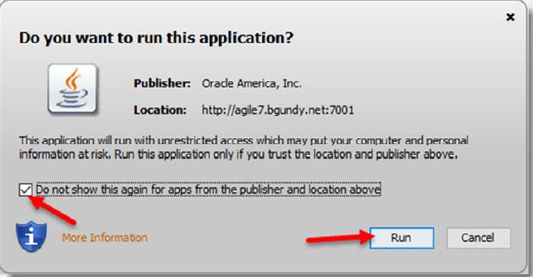 Run Java with Agile