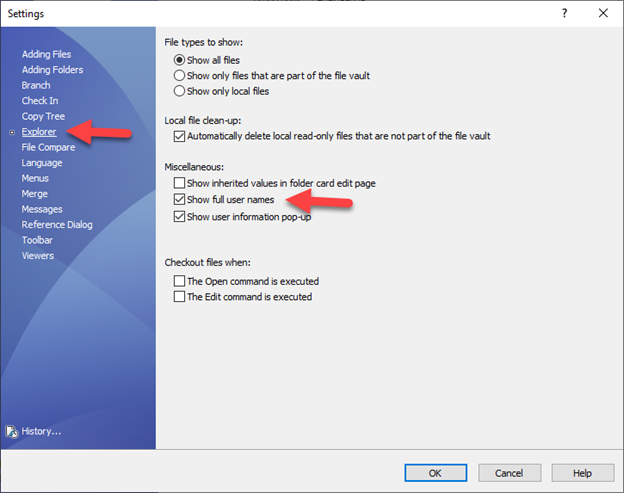 Show Full User Names Option in SOLIDWORKS PDM
