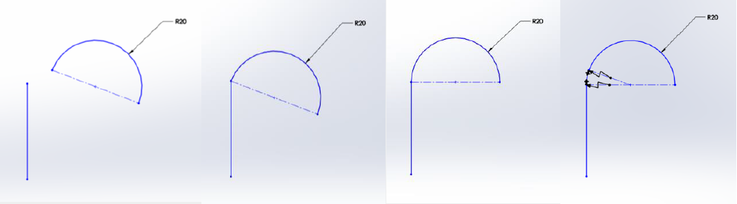 Sketches to Surfaces in SOLIDWORKS