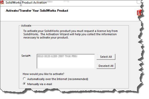 SolidNetWork Manual Product Activation