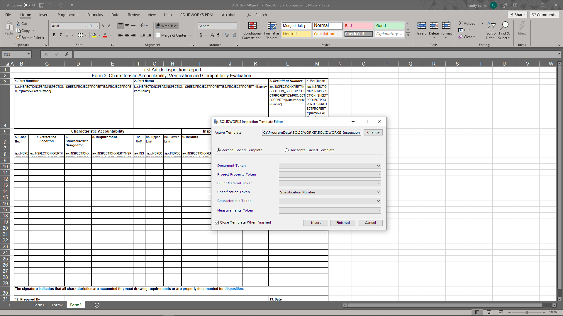 Learn How to Build Report Templates with SOLIDWORKS Inspection