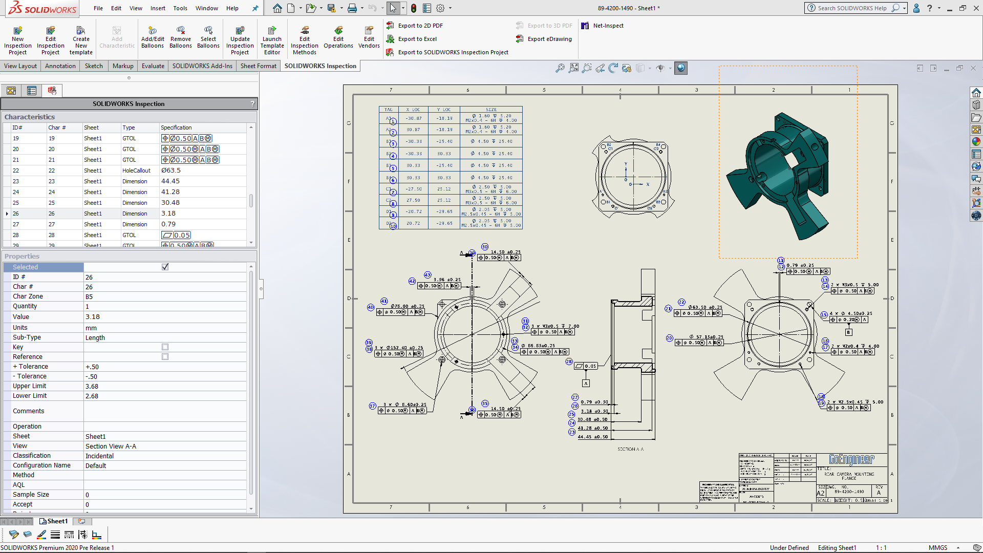 Learn How To Use SOLIDWORKS Inspection to Create Fast & Accurate Quality Documents