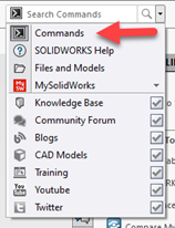 SOLIDWORKS 2021 Search Commands