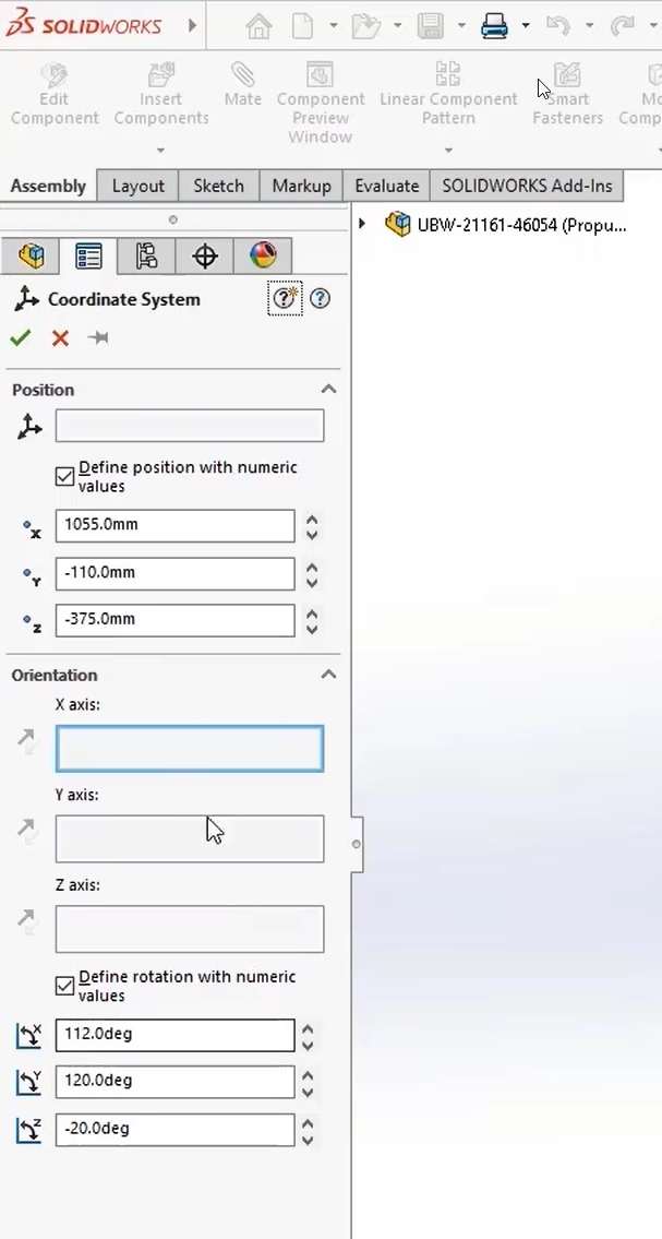 SOLIDWORKS 2022 Coordinate Systems
