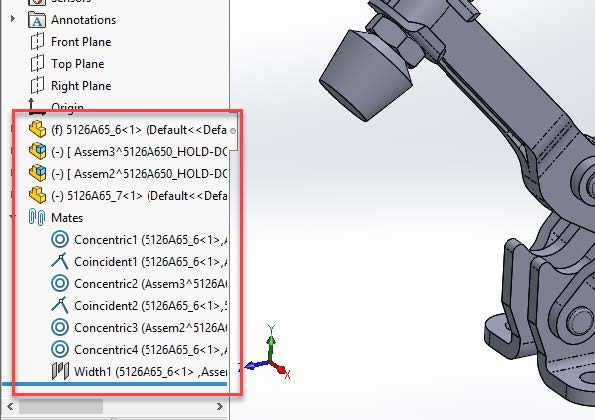 SOLIDWORKS Assembly Component Manager