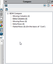 SOLIDWORKS Utilities BOM Compare Tool