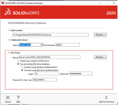 SOLIDWORKS Electrical 2020 Installation Manager