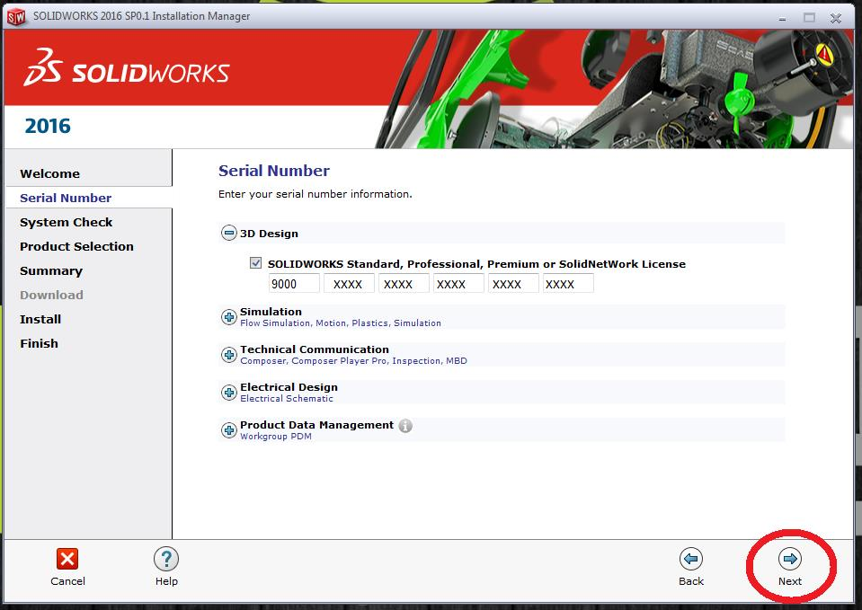SOLIDWORKS Email Installation Serial Number