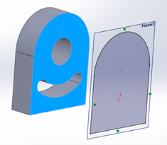 SOLIDWORKS Face Outside Edges
