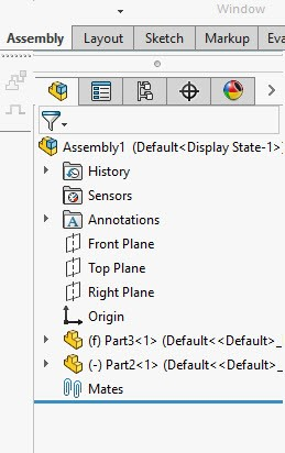 SOLIDWORKS FeatureManager Tree