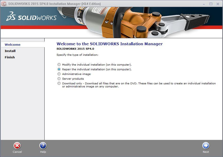 welcome to the solidworks installation manager