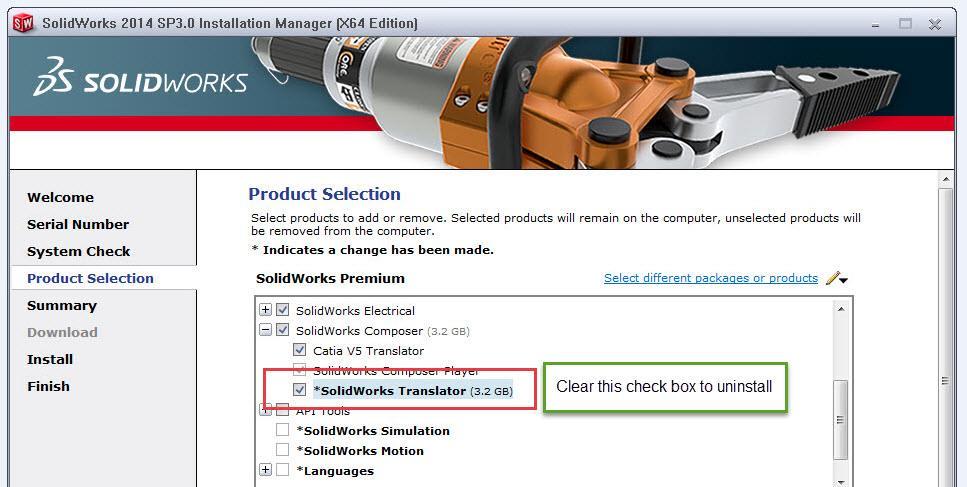 SOLIDWORKS Installation Manger Translator
