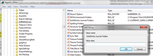 SOLIDWORKS Journal File Error Location Invalid