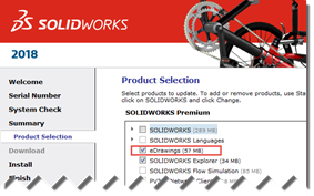 SOLIDWORKS PDM Client Product Selection