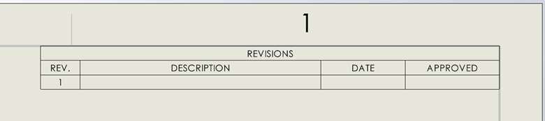 SOLIDWORKS PDM Revisions Column