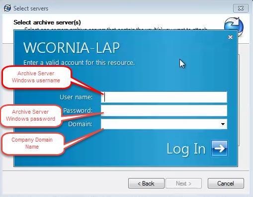SOLIDWORKS PDM Vault View Archive Server Windows Login