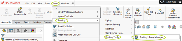 Accessing the SOLIDWORKS Routing Library Manager