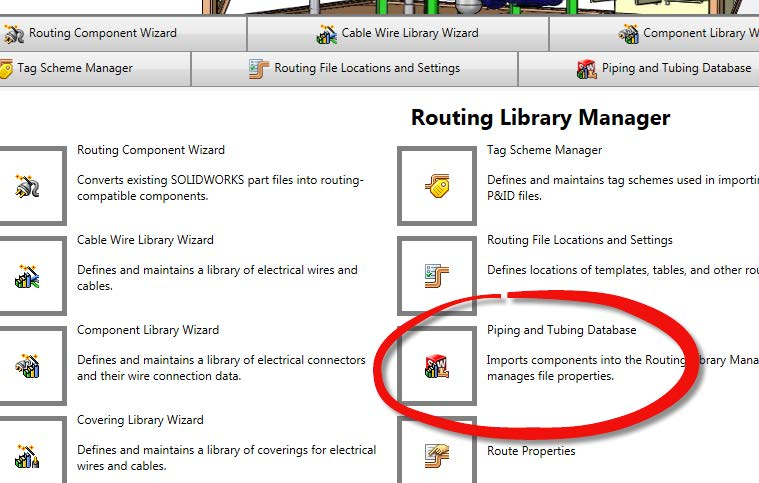 SOLIDWORKS Routing Library Manager
