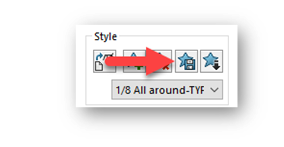 solidworks save as style button