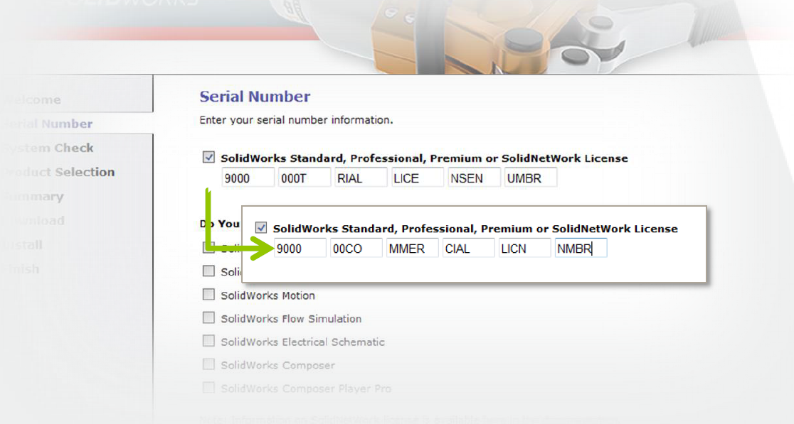 SOLIDWORKS Serial Number Change Trial to Commercial