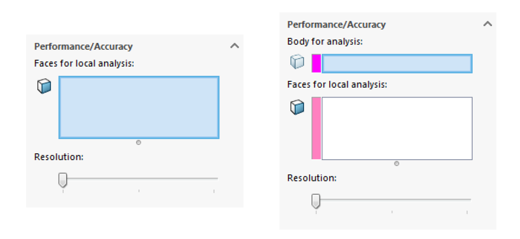 SOLIDWORKS Thickness Analysis Performance/Accuracy