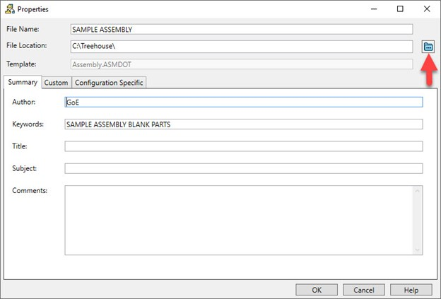 Export File Location in SOLIDWORKS Treehouse