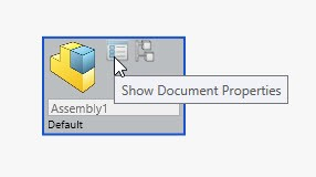 Show Document Properties with SOLIDWORKS Treehouse