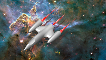 Spaceship CAD Model in SOLIDWORKS