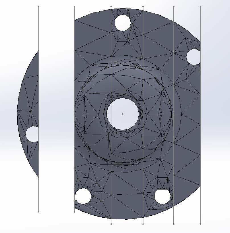 Split Part with Mesh Troubleshooting SOLIDWORKS Simulation