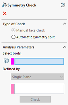 SOLIDWORKS Symmetry Check