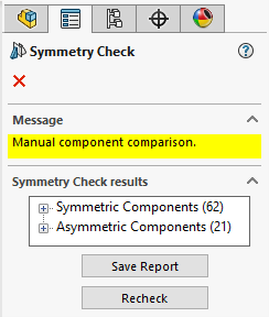 Symmetric and Asymmetric Categories in SOLIDWORKS