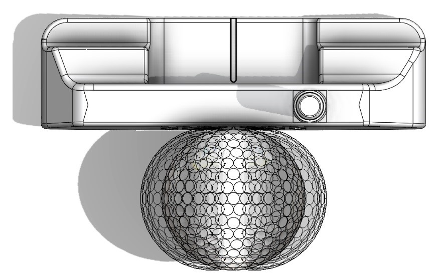 three ball positions tested solidworks golf design