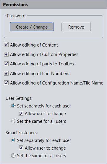 toolbox permissions SOLIDWORKS